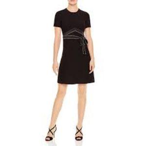 Sandro Isaure Silk-Sash A-Line Dress NWT US 4